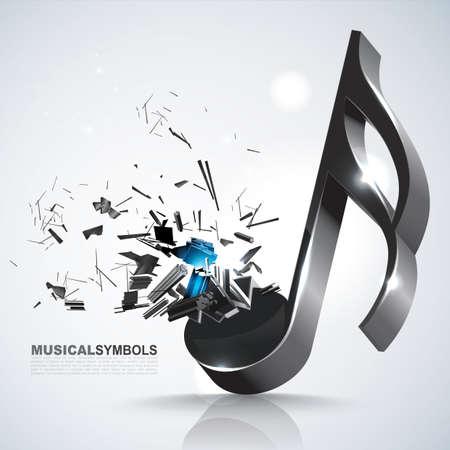 Semiquaver muzieksymbool