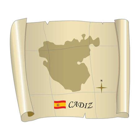 カディス地図 写真素材 - 81590286
