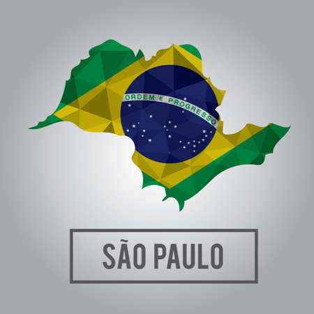 sao paulo state map Illustration