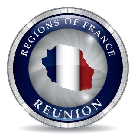 Carte de la Réunion Banque d'images - 81601320