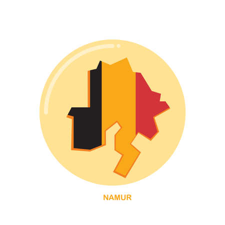 namur map icon Ilustrace