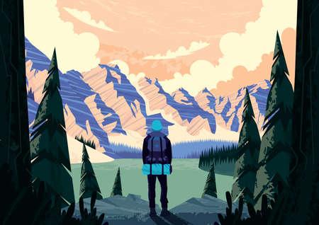 カナダのロッキー山脈