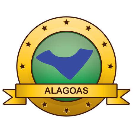 alagoas state map 일러스트