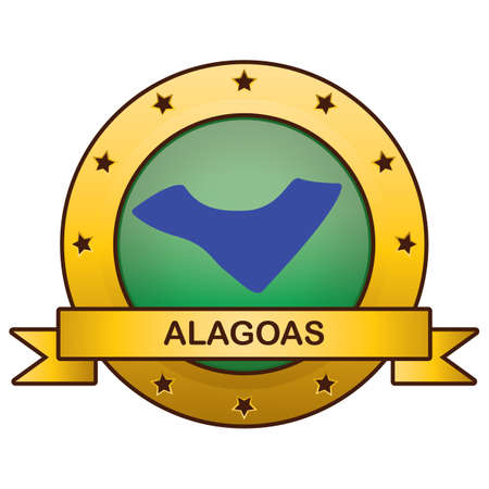 alagoas state map 向量圖像