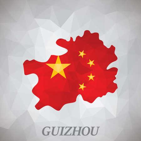 guizhou map 向量圖像