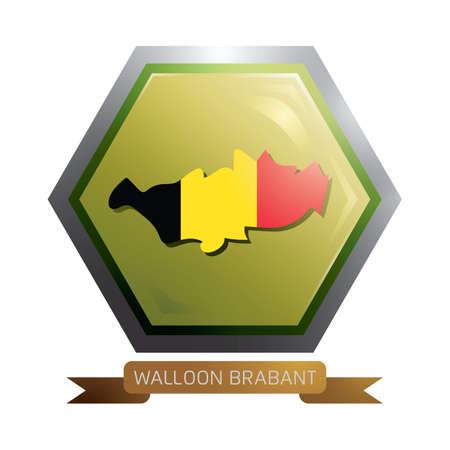 walloon brabant map  イラスト・ベクター素材