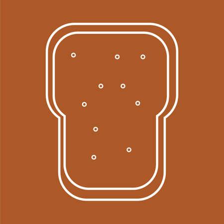 slice of bread Illustration