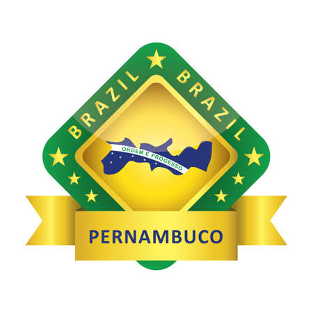 pernambuco state map Иллюстрация