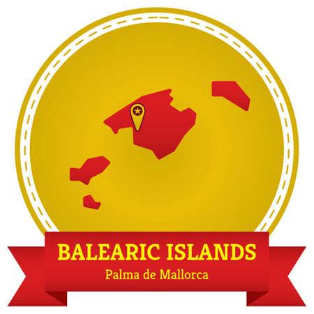 balearic islands map Banco de Imagens - 106669643