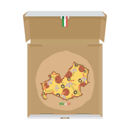 Pizza in shape of molise map