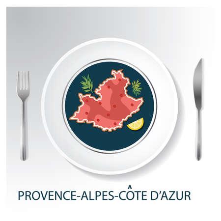 プロヴァンス = アルプ = コート ・ ダジュールの地図