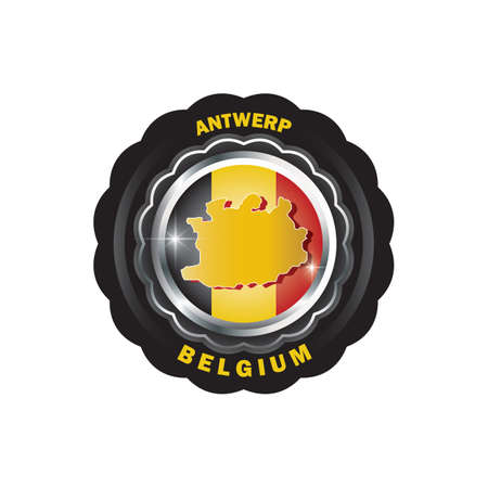 antwerp map sticker Illustration