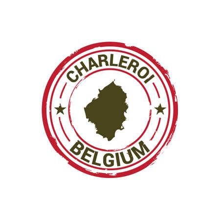 charleroi map stamp