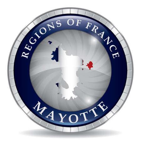 Carte de mayotte Banque d'images - 81535832