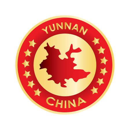 yunnan map Ilustração