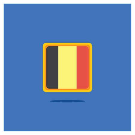 Belgien Flaggenikone