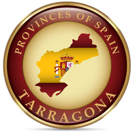 tarragona map Illustration