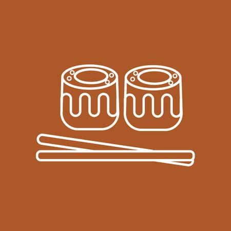 chopstick and sushi