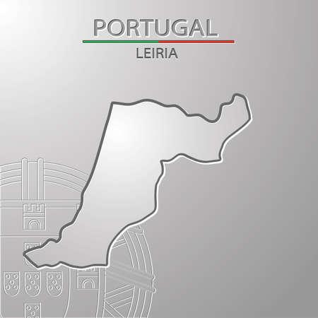 Leiria map 向量圖像