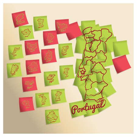 도시와 포르투갈지도