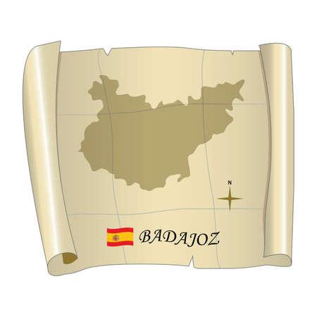 badajoz map Ilustração