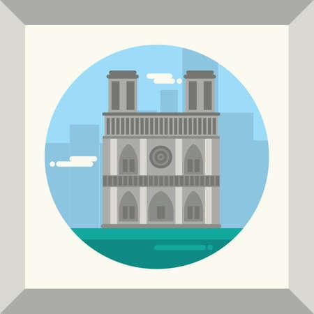 ノートルダム ・ ド ・ パリ  イラスト・ベクター素材