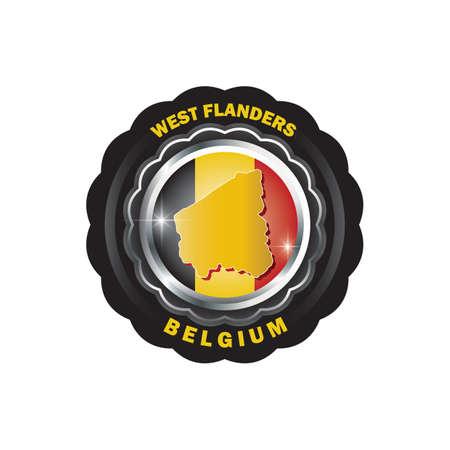west-flanders map sticker