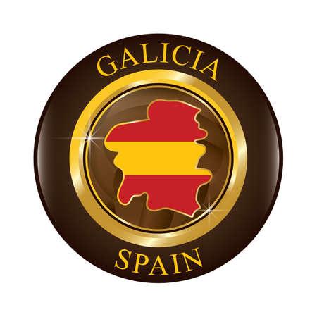 Galicia map Ilustração