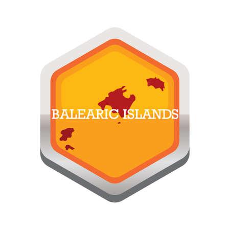 バレアレス諸島の地図  イラスト・ベクター素材