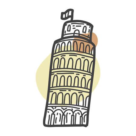 Pisa toren Stock Illustratie