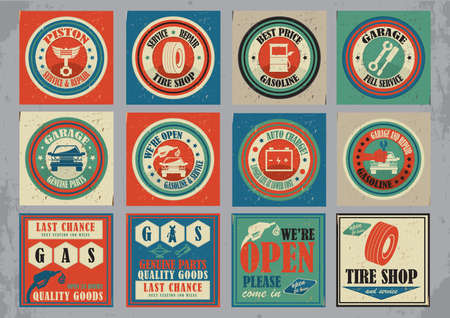 collection of car service icons Illustration