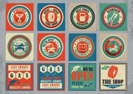 verzameling van auto service pictogrammen