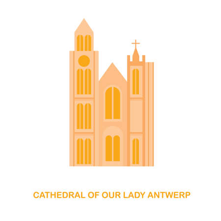 cathedral of our lady antwerp 일러스트