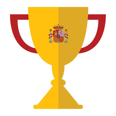 european championship: trophy with spain flag