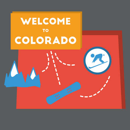 colorado state: welcome to colorado state Illustration