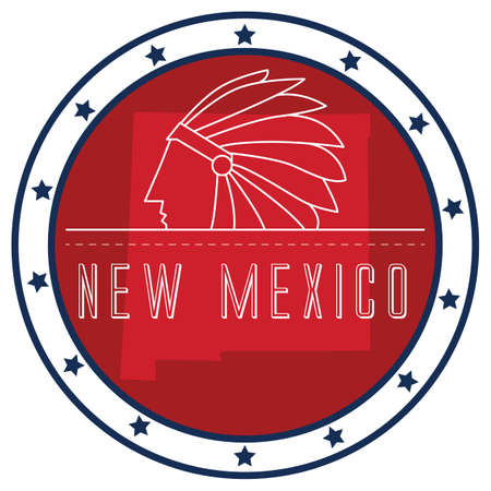 new mexico: new mexico sticker Illustration