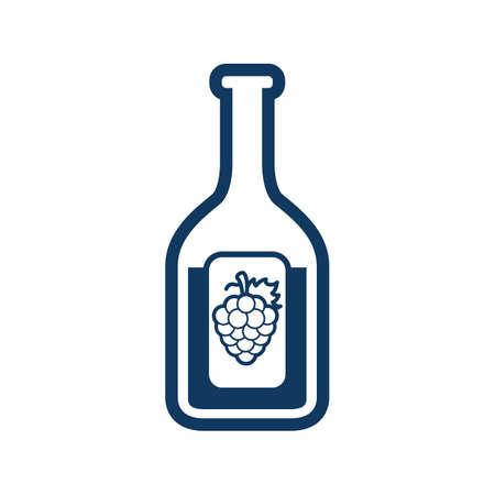 alcoholic drink: wine bottle Illustration