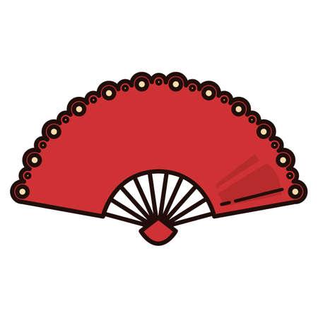 spanish tradition: flamenco fan