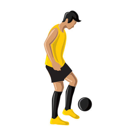 dribbling: soccer player dribbling ball