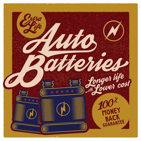 extra money: auto batteries wallpaper Illustration