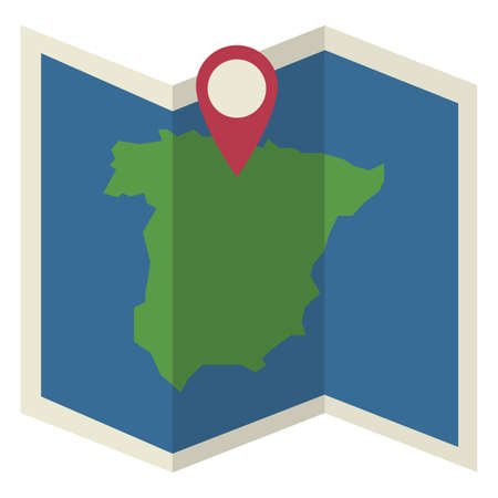 spain map: spain map with map pointer