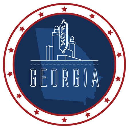 unites: georgia sticker