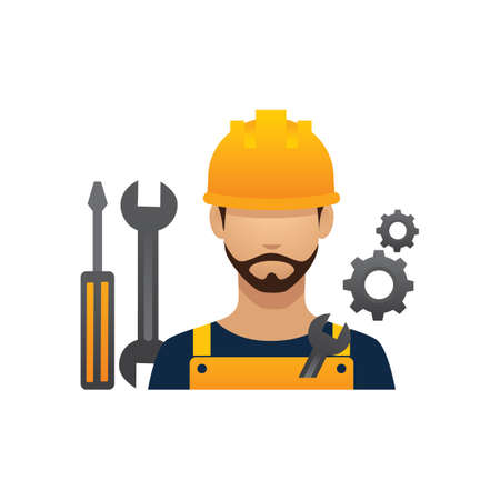 hark: construction worker and tools