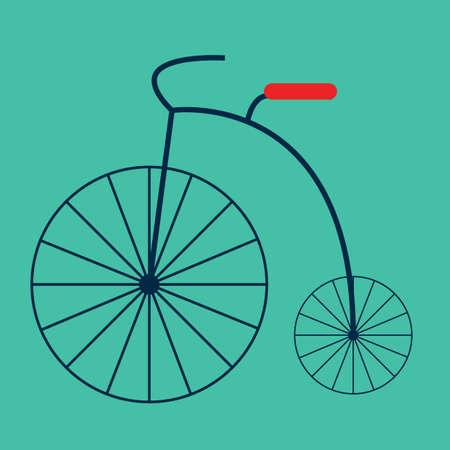 retro bicycle Illustration