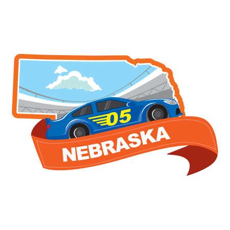 nascar: map of nebraska
