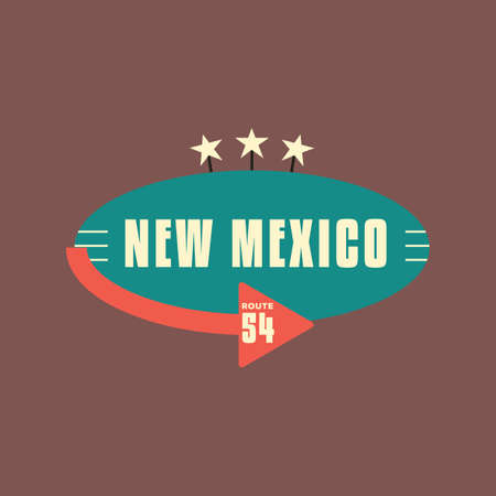 54: new mexico route 54 Illustration