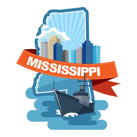 mississippi: map of mississippi
