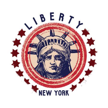 grunge rubber stamp: grunge rubber stamp of new york Illustration