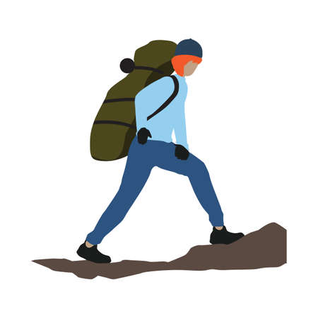 mountaineer walking