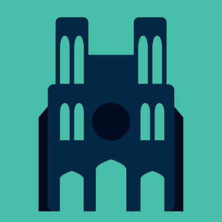 dame: notre dame cathedral Illustration